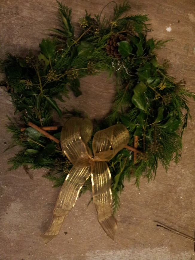 Why making a Christmas wreath is really about my parenting